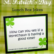 Printable St. Patricks Day Lunch Box Jokes
