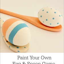 Paint Your Own Egg and Spoon Easter Game