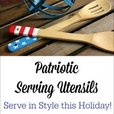 Painted Patriotic Serving Utensils