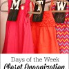 Days of the Week Closet Organizers