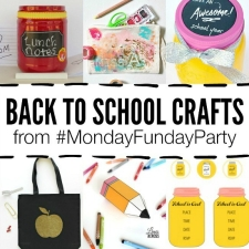 12 Back to School Crafts and Monday Funday