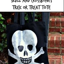 Skull and Crossbones Tote Bag