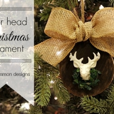 Deer Head Christmas Ornament
