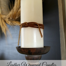 Leather Wrapped Candles
