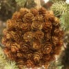 Mini Pine Cone Kissing Ball Ornament and a Giveaway