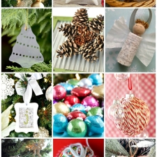 12 Handmade Holiday Ornaments   Monday Funday