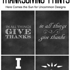 4 Chalkboard Thanksgiving Printables