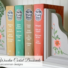 Painted Wooden Corbel Bookends