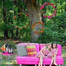 Lit Floral DIY Photo Backdrop