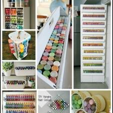 Craft Paint Storage Ideas