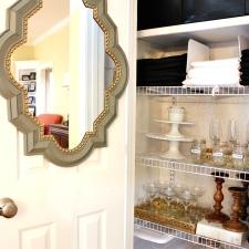 An Organized Entertaining Closet