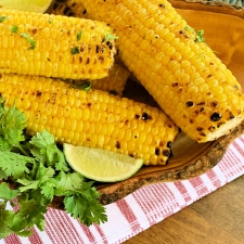Grilled Cilantro Lime Corn on the Cob