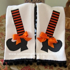 Fancy and Fun Witch Shoe Dish Towels