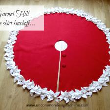Garnet Hill Tree Skirt Knockoff....I Have A Little Crush.....
