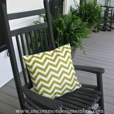 Summertime...and the livin' is easy...{ Chevron Pillow }