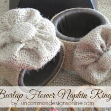 Burlap Flower Napkin Rings