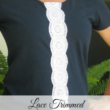 Lace Trimmed Tshirt Refashion