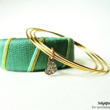 Thread Wrapped Bangle Bracelets