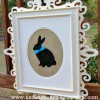 Hippety Hoppety Easter is On Its Way! { Framed Bunny Silhouette }