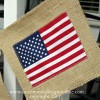 4th of July Burlap Flag Banner