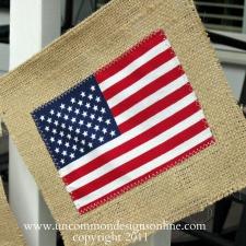 4th of July Burlap Flag Banner