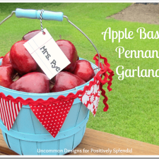 Apple Basket Pennant Garland Tutorial