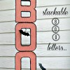 Stackable BOO Halloween Letters...