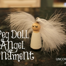 Peg Doll Angel Ornament