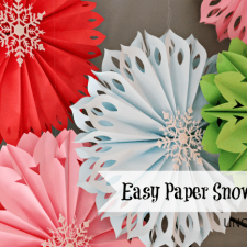 How To Make Paper Snowflakes... The Easiest Ever!!