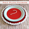 How To Make A DIY Felt Plate Charger