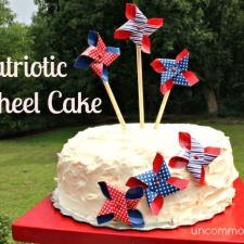 Patriotic Pinwheel Cake... A No Bake Cake!