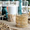 DIY Faux Rattan Beverage Coozies