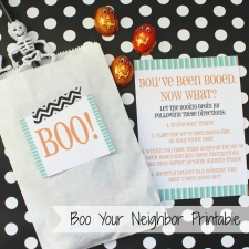 Boo Your Neighbor Halloween Printables