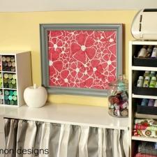 A Framed and Stenciled Cork Board