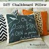 DIY Chalkboard Pillow
