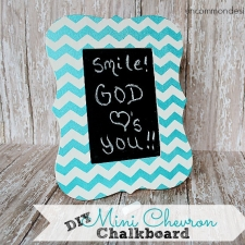 Mini Chevron Chalkboard and Frame