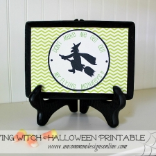 Flying Witch Halloween Printable