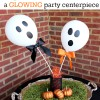 Ghost Balloon Craft... a Glowing Halloween Party Centerpiece