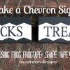 Make a Chevron Sign for Halloween using FrogTape® Shape Tape™