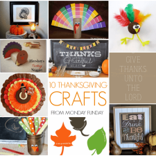 10 Thanksgiving Crafts and the Monday Funday Link Party