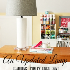 A Lamp Update: Chalky Finish Paint by Americana Decor