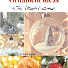Clear Christmas Ball Ornament Ideas