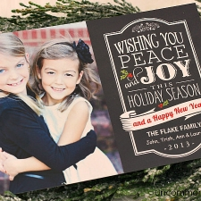 Chalkboard Christmas Cards and Pillows
