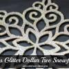 Glass Glitter Snowflakes