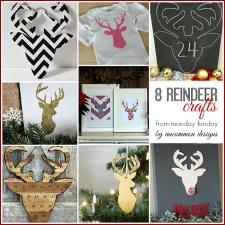 8 Reindeer Christmas Craft  Ideas