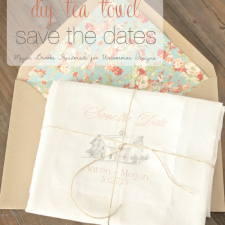 DIY Tea Towel Save the Dates