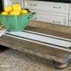 DIY Ticking Stripe Wooden Server Tray