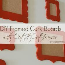 DIY Framed Cork Boards