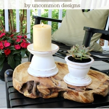 Outdoor Terra Cotta Candle Holders