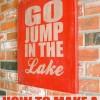 DIY Vintage Lake Sign